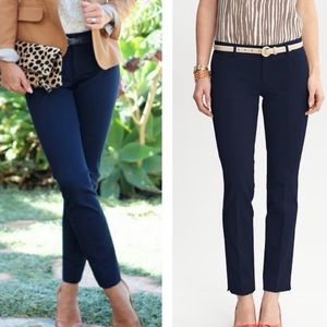 Banana republic sloan solids navy blue ankle pants